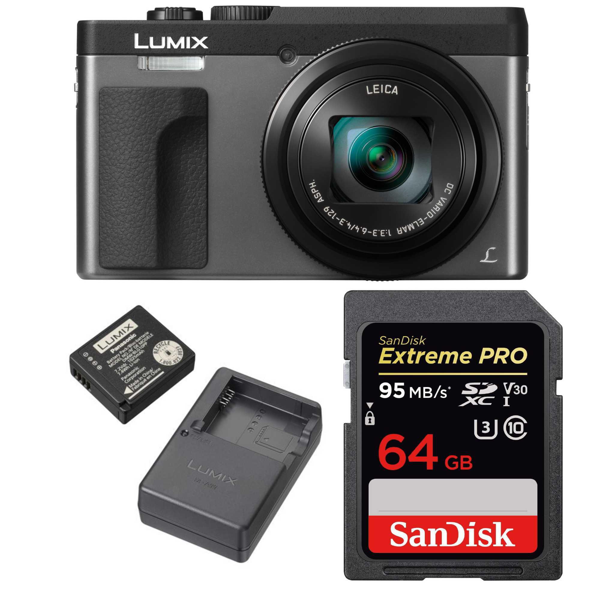 Panasonic Lumix DMC-ZS70S 20.3 Digital Camera (Silver) w/ Travel Bundle