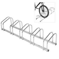 LHCER Bike Parking Rack, Bicycle Parking Rack,5 Racks Steel Bike Bicycle Floor Parking Stand Storage Rack Holder