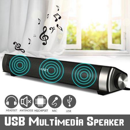 MIDAS-2.0 USB Multimedia h Sound Bar Speaker Soundbar For Smart Phone Computer Desktop PC Laptop - image 7 of 10