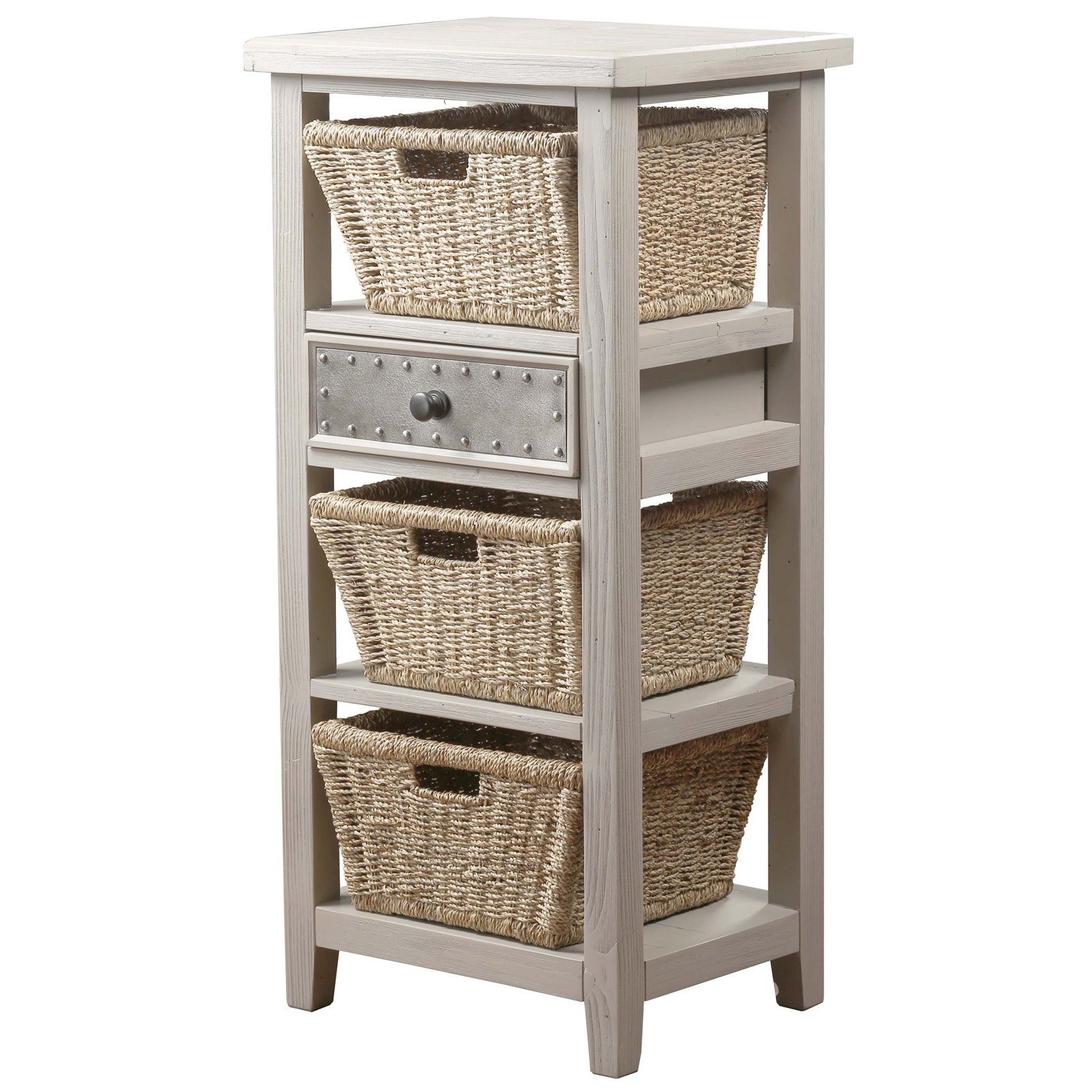 Hillsdale Furniture Tuscan Retreat Basket Stand with Three (3) Baskets, Multiple Colors
