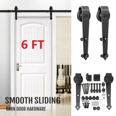 Sliding Door Hardware Sliding 6ft Modern Barn Door Hardware Kit