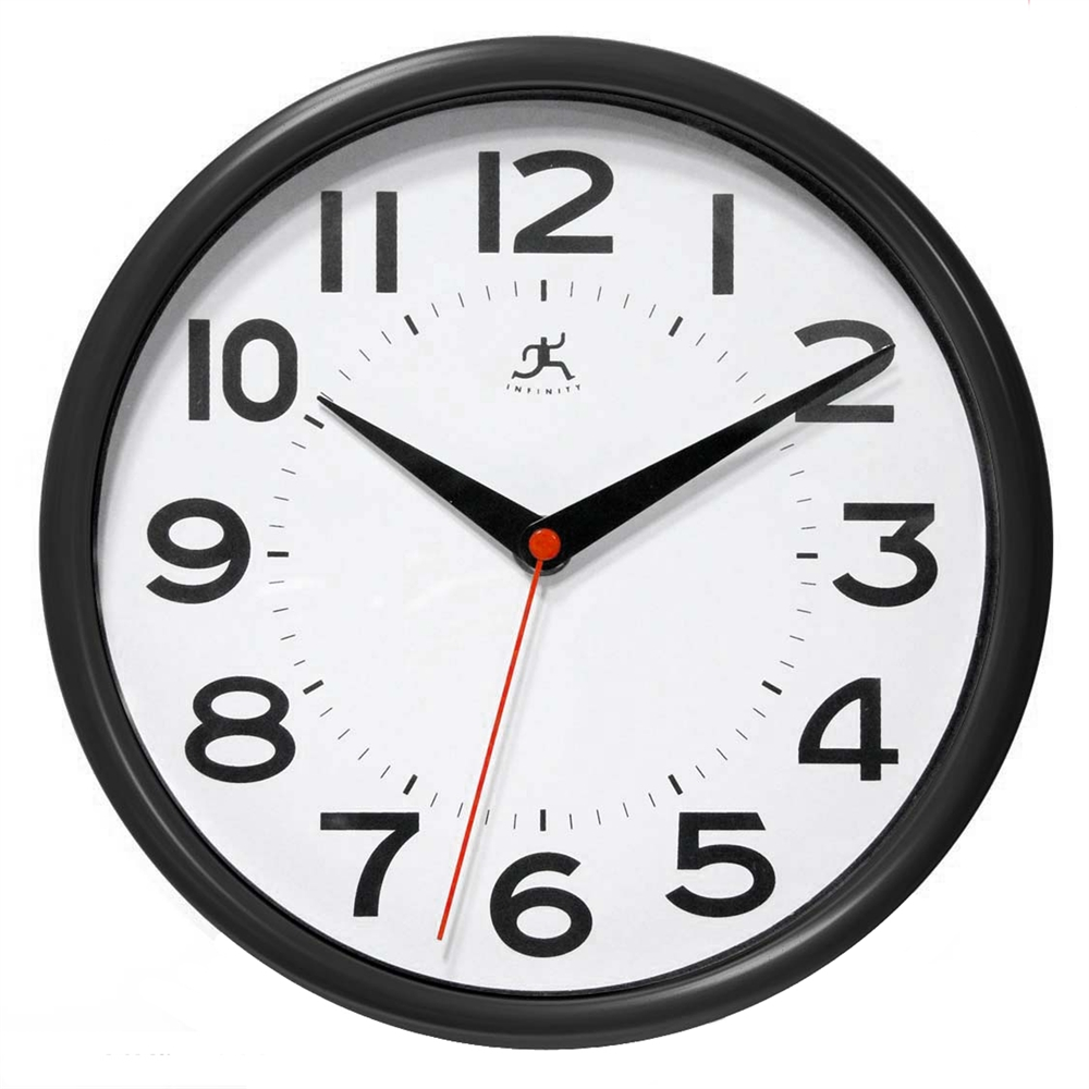 Infinity Instruments Metro 8.88-Inch Wall Clock