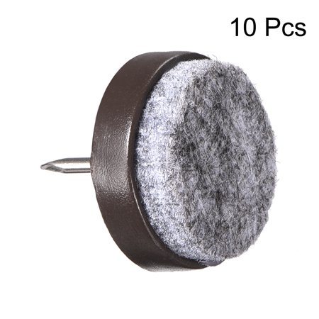 Nail On Furniture Felt Pads Glide Chair Table Leg Protector 24mm Dia Brown 10pcs - image 2 of 6