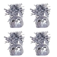 Foil Balloon Weight, Silver, 4-Pack (4 Weights)
