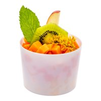 Short Cylindro Cup, Short Dessert Cup, Short Appetizer Cup - Solid Disposable Plastic - 6 oz - White - 100ct Box