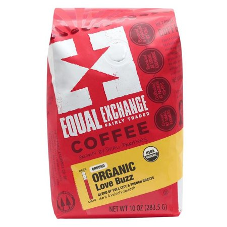 Equal Exchange Organic Love Buzz Ground Coffee, 10 Ounces
