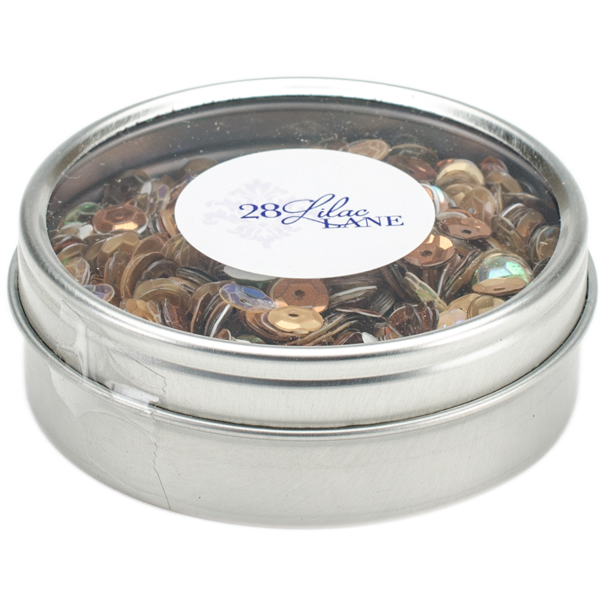 28 Lilac Lane Tin W/Sequins 40g-Neutrals