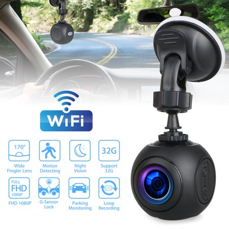 - Mini Night Vision Camera, Full HD 1080P 360 Degree Rotation WiFi Digital Rotate Angle Dashboard Camera DVR Recorder with G-Sensor,Motion Detection, WDR, Parking Monitoring, Moving Detection-EEEkit