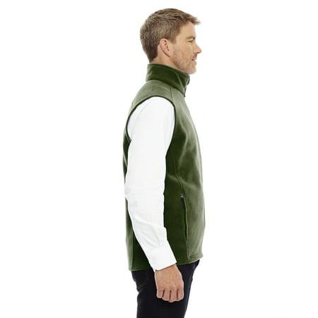 North End Ash City Men's Brushed Tricot-Lined Inside Pocket Fleece Vest The North Face Waterproof Vest