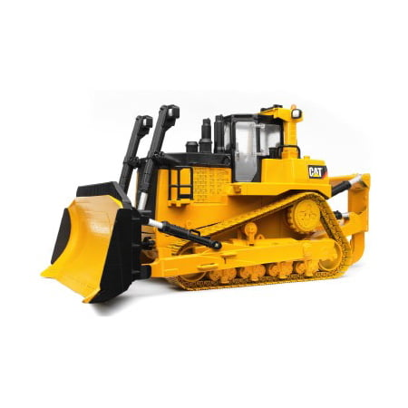 Bruder toys caterpillar large track treaded play tractor dozer, yellow | 02453