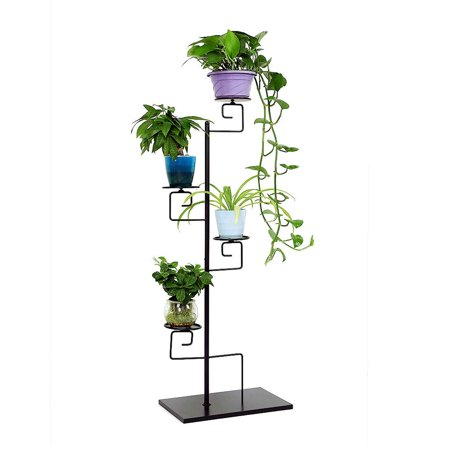 4-Tiered Folding Plant Stand Pots Display - Plant Display