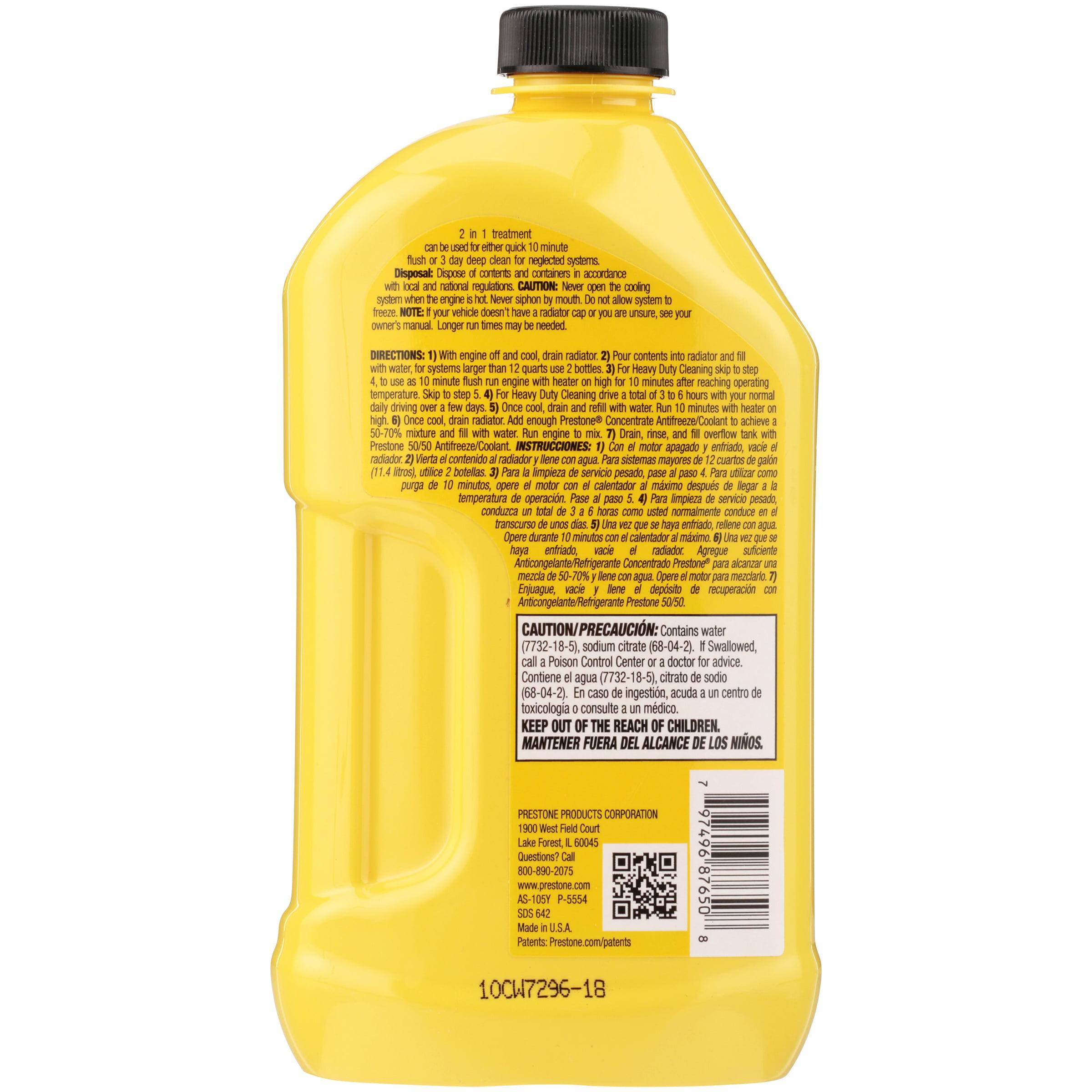 Prestone® Radiator Flush + Cleaner 22 fl  oz  Bottle