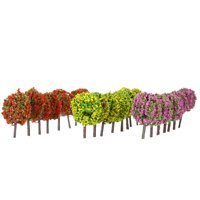 Mixed 3 Colors Ball-shaped Flower Trees Model Train Layout Garden Scenery landscape Trees Diorama Miniature 30 Pieces
