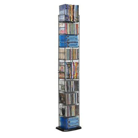 - Media Folding Rack 153 CD or 72 DVD P2 Storage - 8 Adjustable Wire Shelves