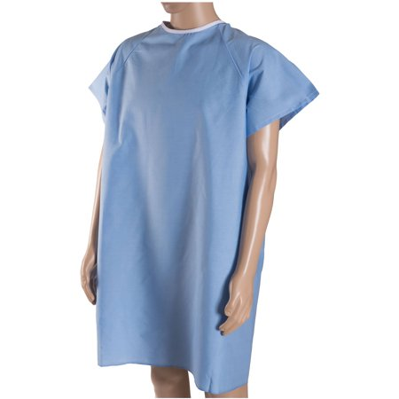 DMI Convalescent Hospital Gown with Back Tie, Blue - Halloween Hospital Gown