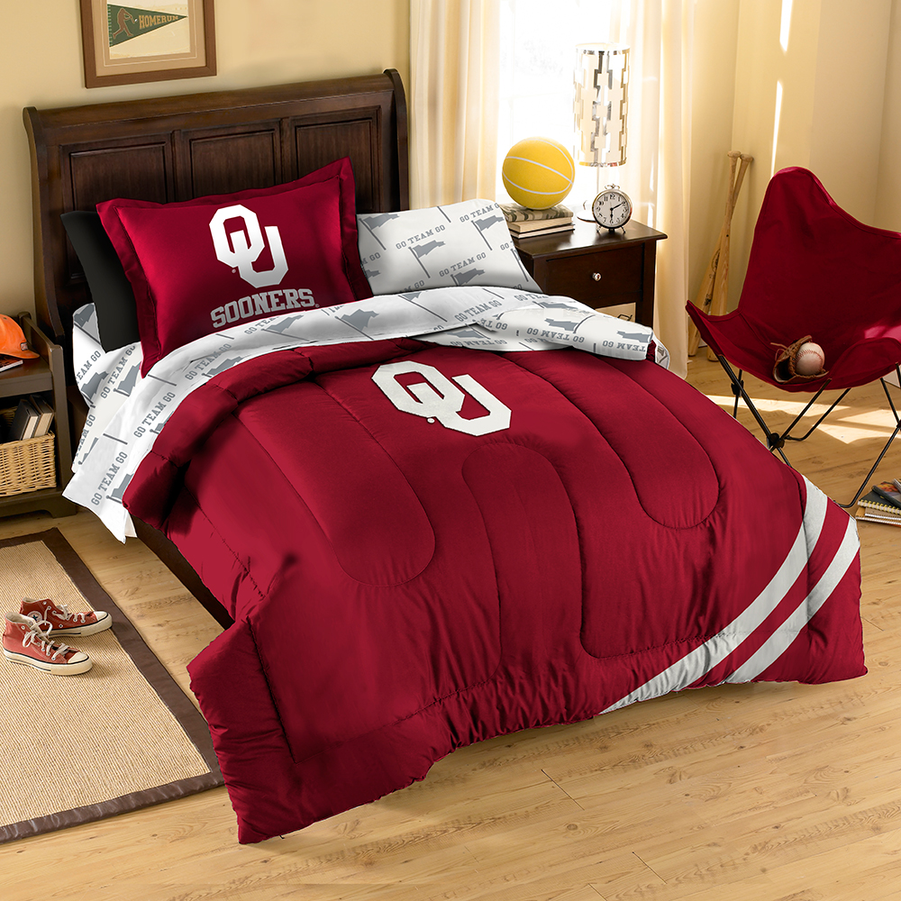 Oklahoma Sooners NCAA Bed in a Bag (Twin)