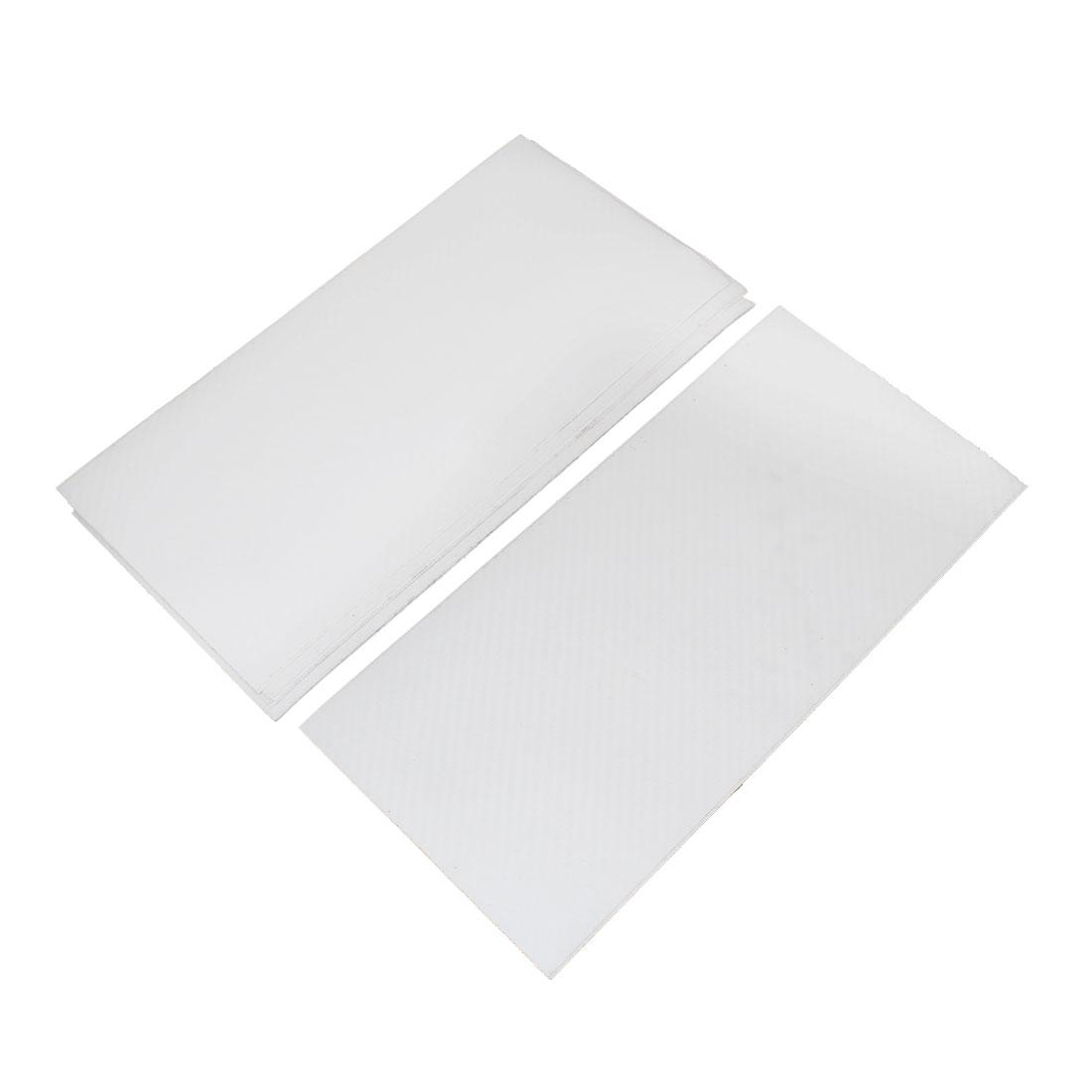 10 Pcs 300 x 143mm Self Adhesive Carbon Fiber Film Sticker White for Vehicle - image 3 de 3
