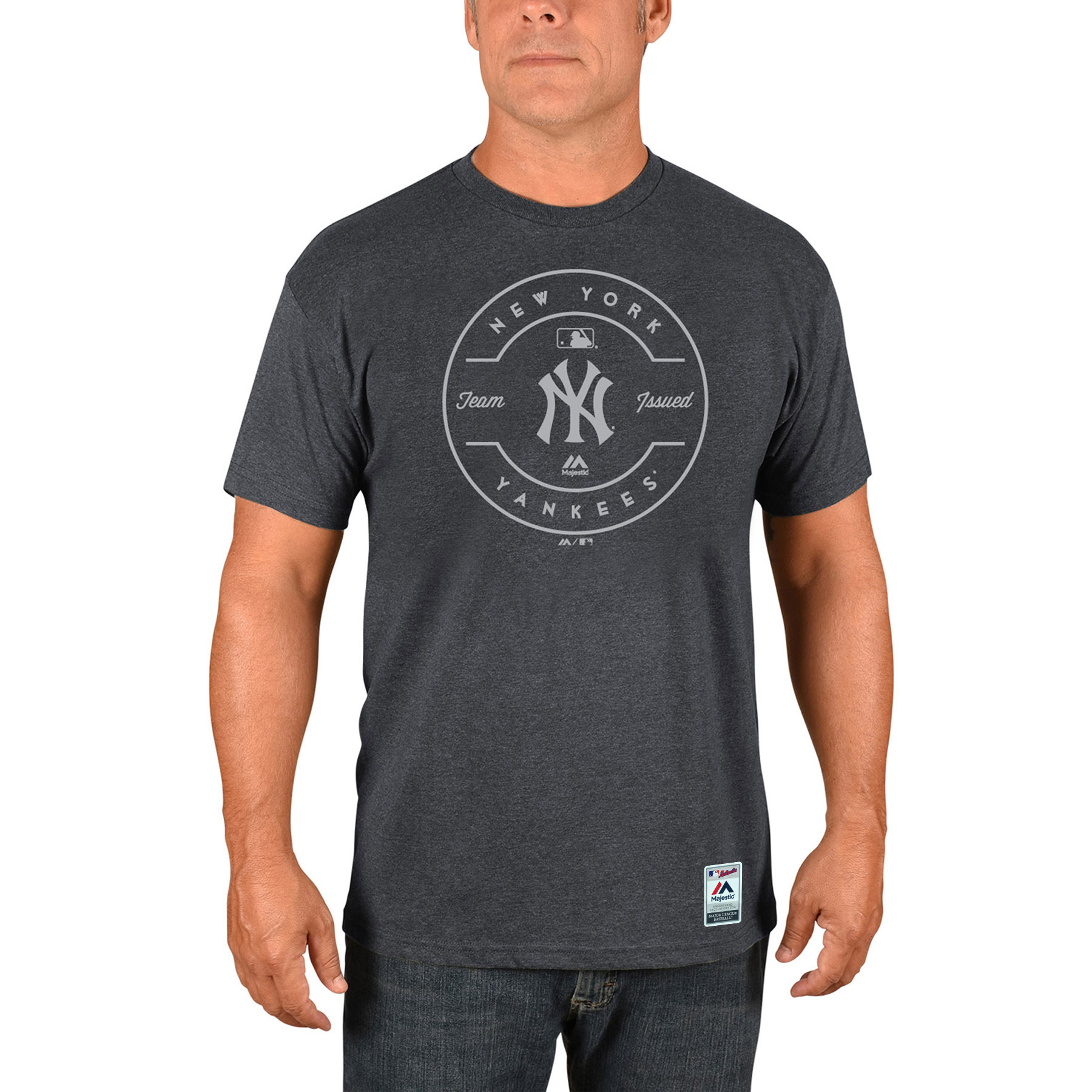 New York Yankees Majestic Authentic Collection Clubhouse Team Issue T-Shirt - Heathered Charcoal