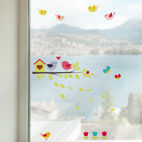 WallPops! Home Decor Line Birds on the Branch Window Sticker