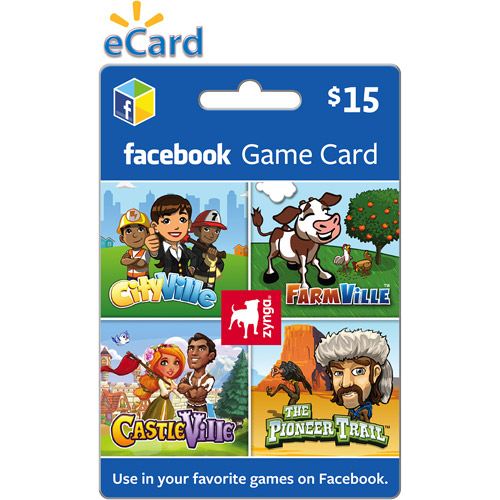 Zynga Facebook $15 eGift Card (Email Delivery)