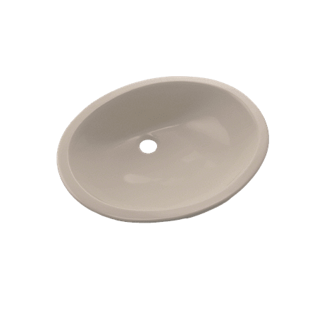 TOTO® Rendezvous® Oval Undermount Bathroom Sink with CeFiONtect™, Bone - LT579G#03