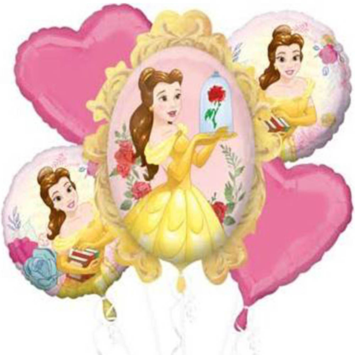 Disney Princess Belle Beauty and The Beast Authentic Licensed Theme Foil Balloon Bouquet