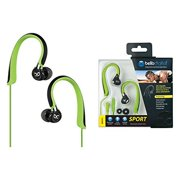 Bell'o Bdh751 Sport Headphones - Stereo - Lime Green, Black, Dark Chrome - Mini-phone - Wired - Gold Plated - Over-the-ear, Earbud - Binaural - In-ear (bdh751gdcp)