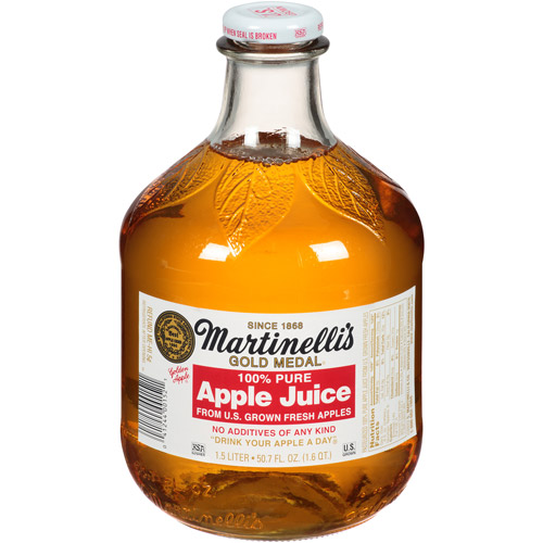 Martinelli's Gold Medal 100% Pure Apple Juice, 50.7 fl oz (Pack of 6)