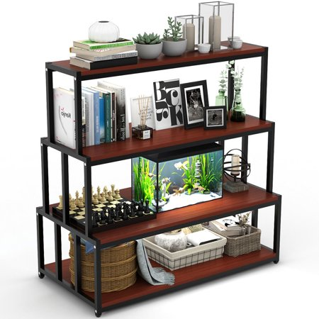 new style c90ab b3a87 Bookshelf, LITTLE TREE Standing Heavy Duty 4 Shelf Bookcase