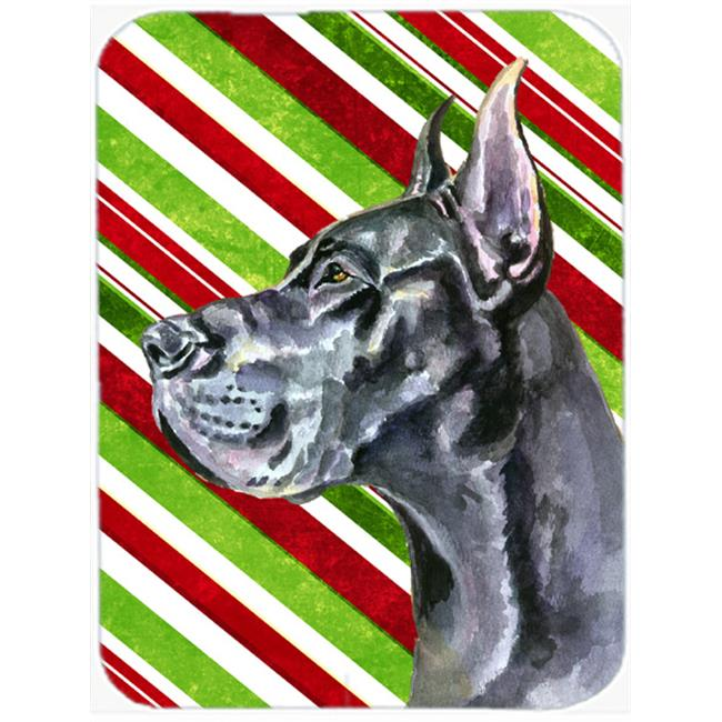 Black Great Dane Candy Cane Holiday Christmas Mouse Pad, Hot Pad & Trivet - image 1 of 1