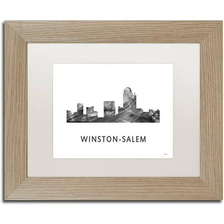 Trademark Fine Art \'Winston-Salem NC Skyline WB-BW\' Canvas Art by ...