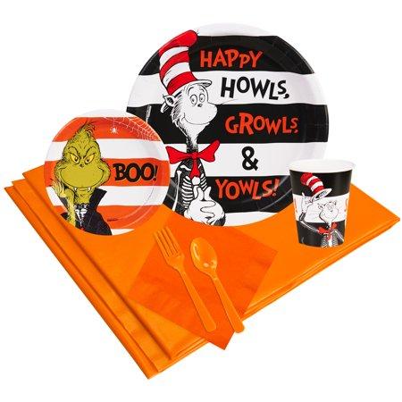 Dr Seuss Halloween Party Supplies Party Pack 16 - Halloween Dr Seuss