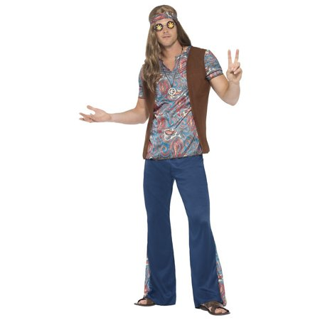 Orion the Hippie Adult Costume - Large - Hippie Man