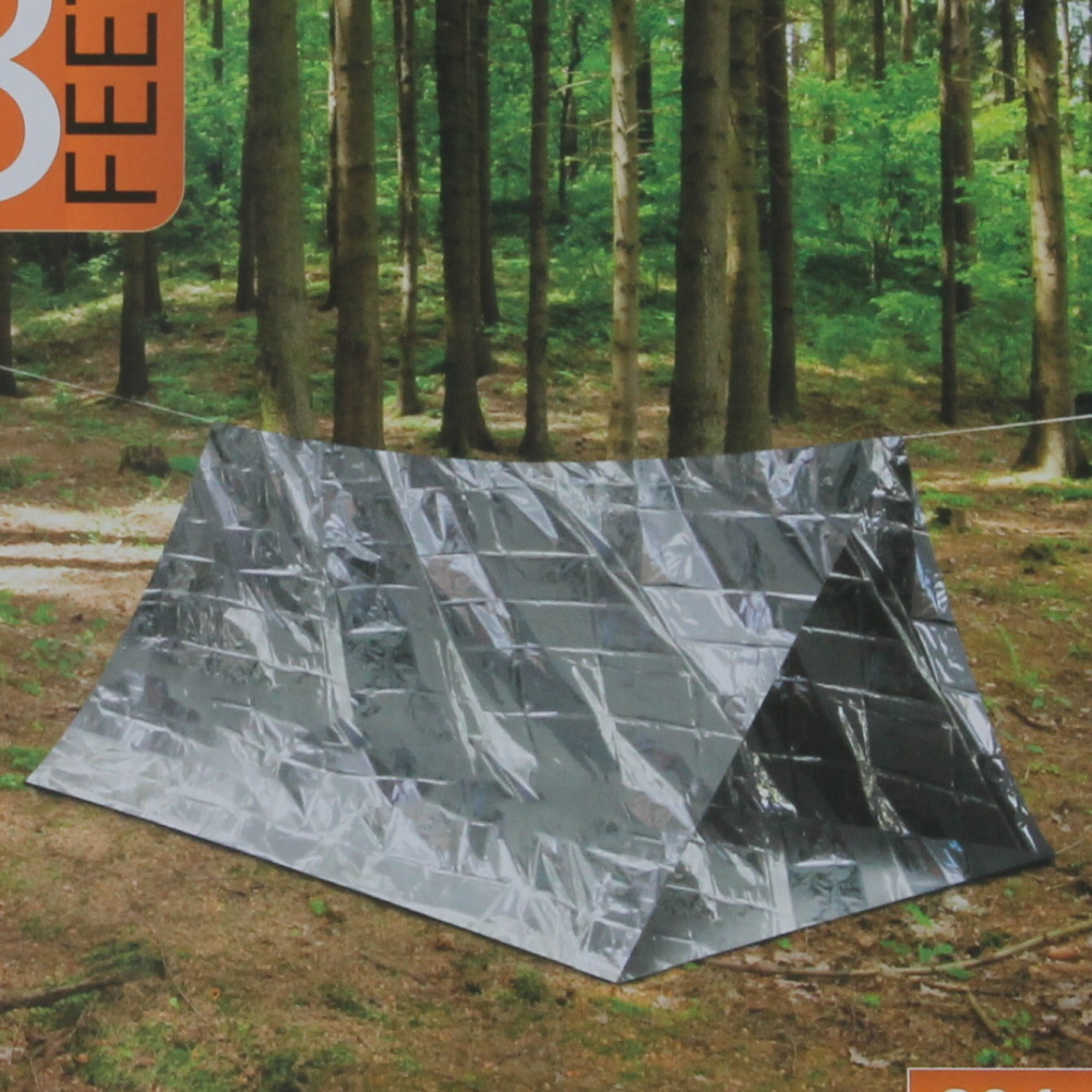 Emergency Shelter Reflective Tent 2 Person Camping Survival Portable Dwelling