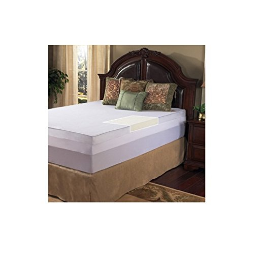 Grande Hotel Collection 3 Inch Memory Foam Mattress Topper with Egyptian Cotton Cover, Size Cal King