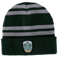 Harry Potter Gryffindor Logo Stripes Knit Beanie Hat Cap Deathly Hallows Costume