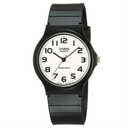 Casio Men's Classic Resin Analog Watch, White Dial