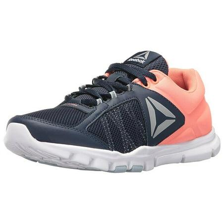 ... reebok women's yourflex trainette 9.0 mt cross-trainer shoe, collegiate  navy/stellar pink