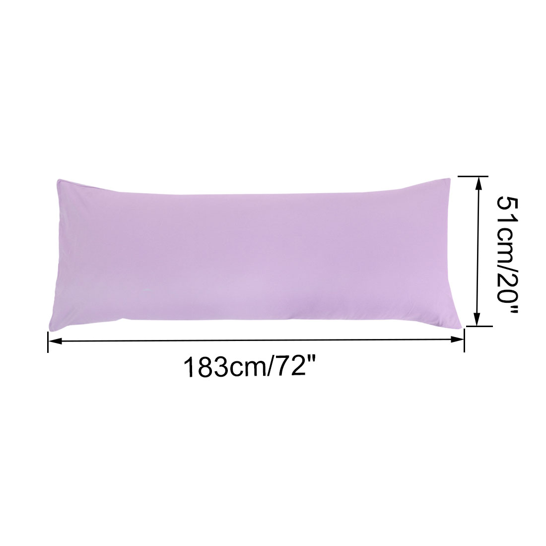 "Set of 2 Body Pillow Cover Long Soft Pillow Case for Body Pillows Violet 20""x72"" - image 4 of 7"