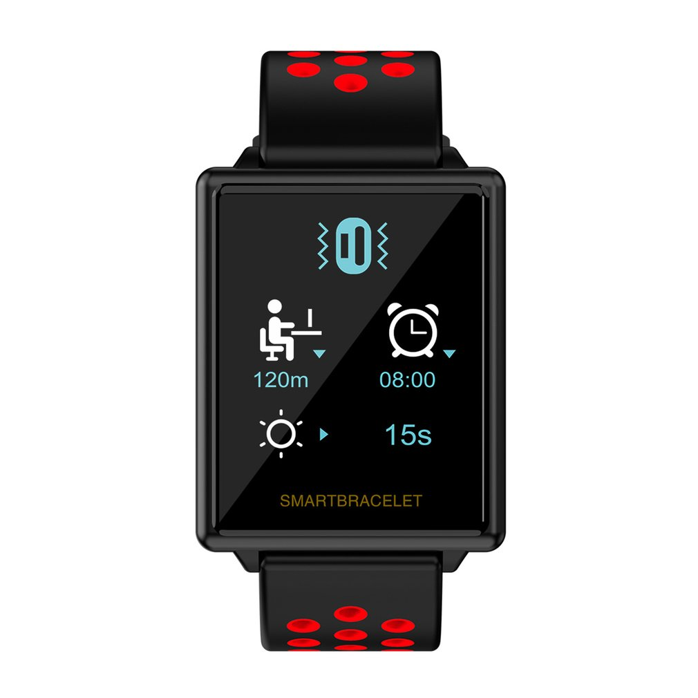 F8 Bluetooth Smart Band Heart Rate Monitor Smart Bracelet 1.44 inch TFT Screen Steps Distance Calories Sports Wrist Watch