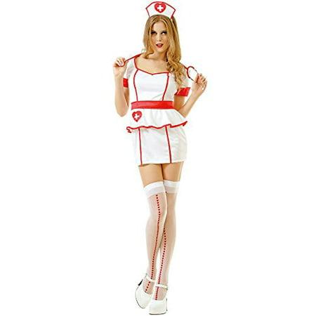 Naughty Nurse Halloween (Boo! Inc. Naughty Nurse Women's Sexy Halloween Role Play Costume Scrubs,)