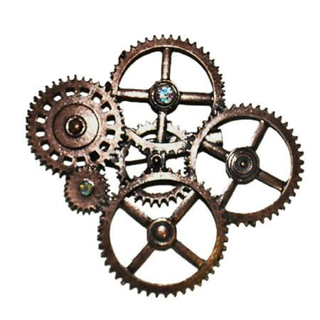 Steampunk Gear Brooch