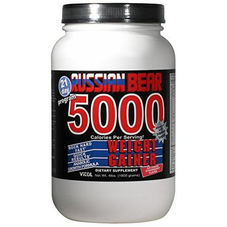 Vitol Russian Bear 5000 Weight gainer Supplement, Strawberry, 4 (Russian Bear 5000 Weight Gainer Side Effects)