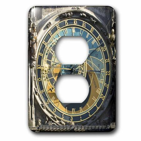 3dRose Astronomical Clock, Orloj, Prague, Czech Republic - EU06 THA0021 - Tom Haseltine - 2 Plug Outlet Cover (Czech Republic Plug)