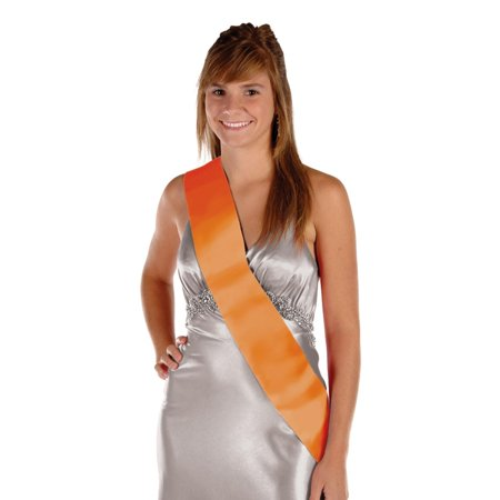 - Pack of 6 Blank Customizable Orange Satin Sashes 33