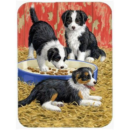 Carolines Treasures ASA2079LCB Border Collie Pups Glass Cutting Board, Large - image 1 de 1