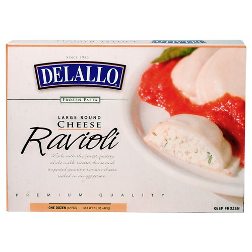 Delallo Ravioli Cheese Large Round