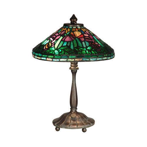 Dale Tiffany Poppy Shade 14'' H Table Lamp with Empire Shade