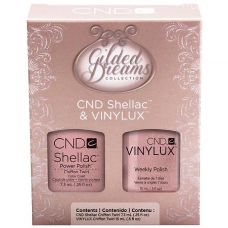 CND Creative Nail Design Gilded Dreams Shellac Gel Vinylux Polush Duo - Chiffon Twirl