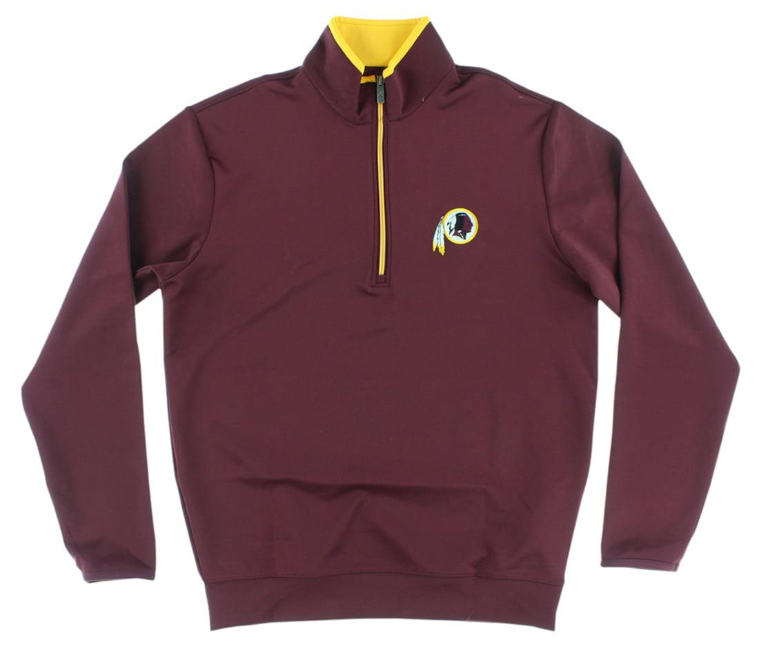 Antigua Mens Washington Redskins NFL Leader Pullover Jacket Burgundy by